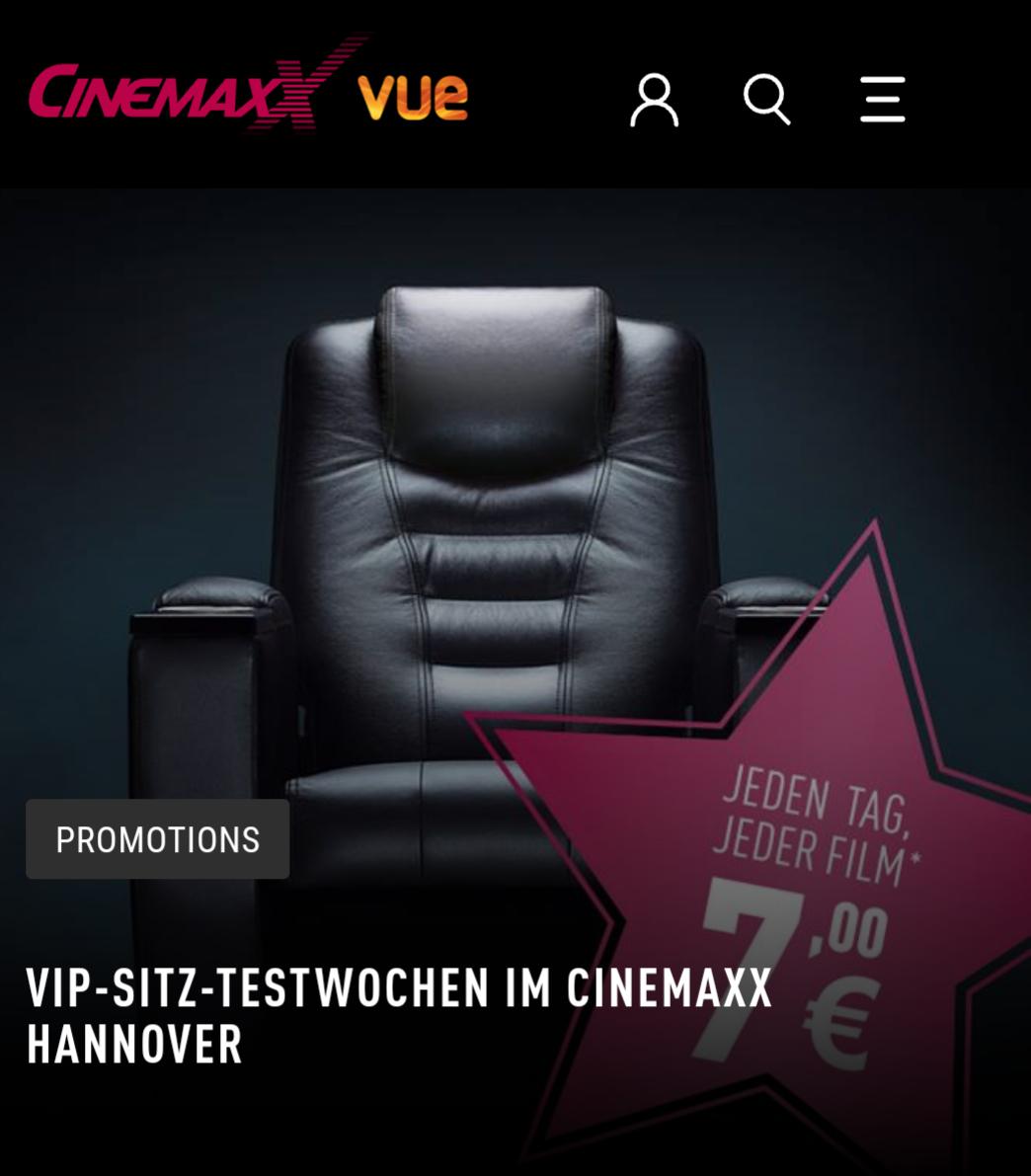 cinemaxx vip plätze