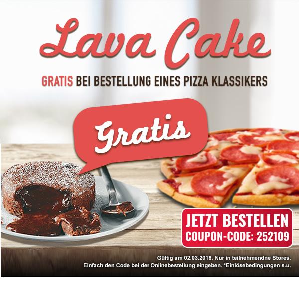 Dominos lava cake gutschein