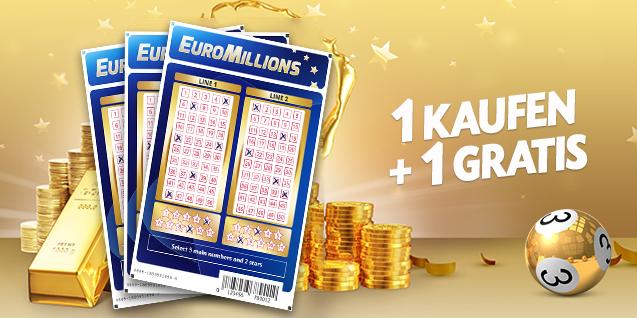 2 EuroMillionen Tipps zum Preis von einem