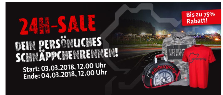 Großer 24h SALE im Nürburgring Shop (Online) - 1 x jährlich