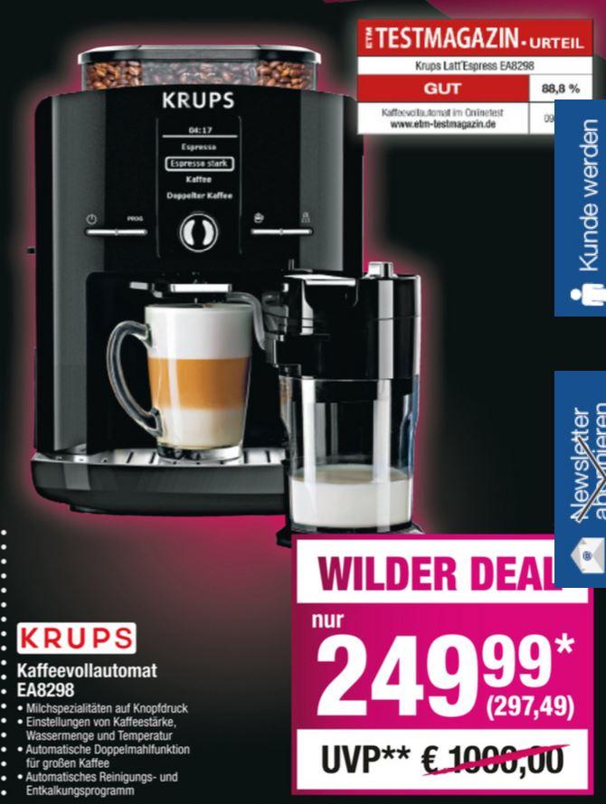 METRO: Krups EA 8298 Latt´Espress Kaffeevollautomat mit Milchaufschäumer auf Knopfdruck