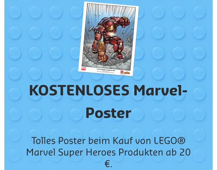 LEGO: Gratis Marvelposter ab 20€ Einkauf