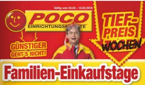 Familien-Einkaufstage bei POCO in Ahlen, Münster, Lüdinghausen, Bergkamen: 20% auf Möbel, 50% auf Küchen