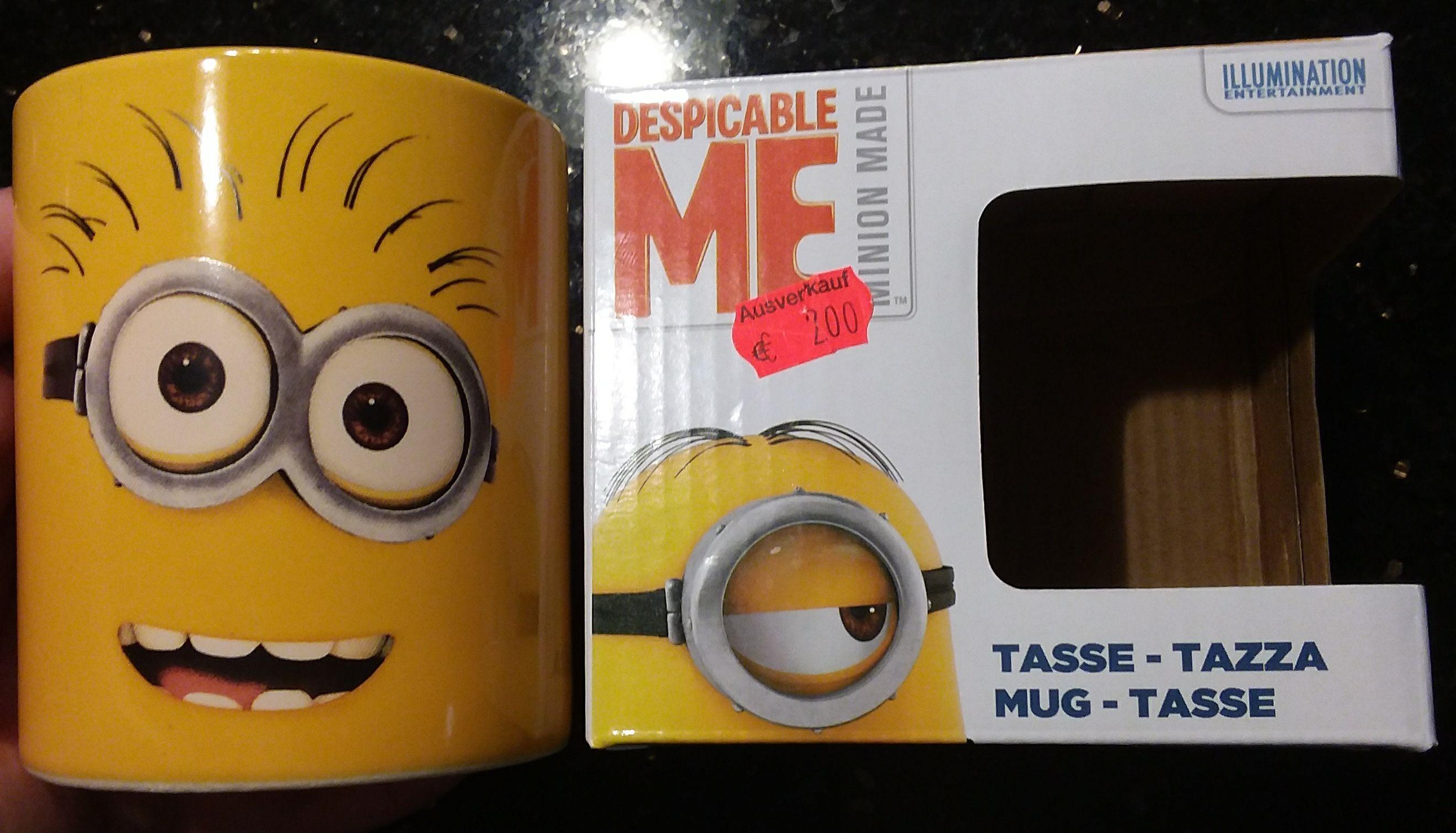Minions Tasse Kaffeetasse 320 ml Keramik Rossmann Aschaffenburg Lokal