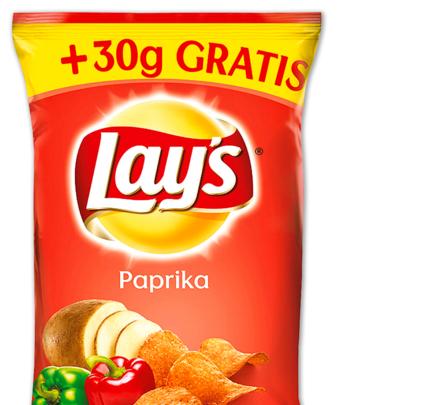 [PENNY] Lay's Kartoffelchips versch. Sorten +30g Gratis ab Montag für 99 Cent