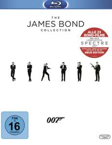 James Bond Collection Blu-ray + cinema (DE, Preis inkl. Spectre, d.h. alle 24 Filme) + Cinema Jahresabo