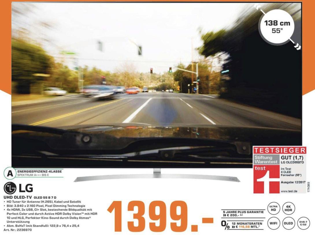 "[LOKAL Saturn Krefeld] LG 55"" OLED B7D Fernseher"