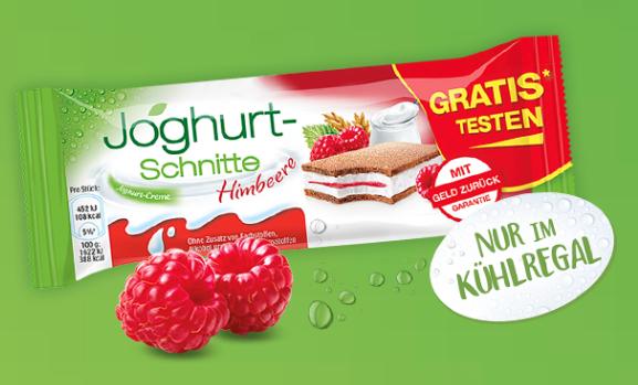 *Gratis Testen* Joghurt-Schnitte und Joghurt-Schnitte Himbeere