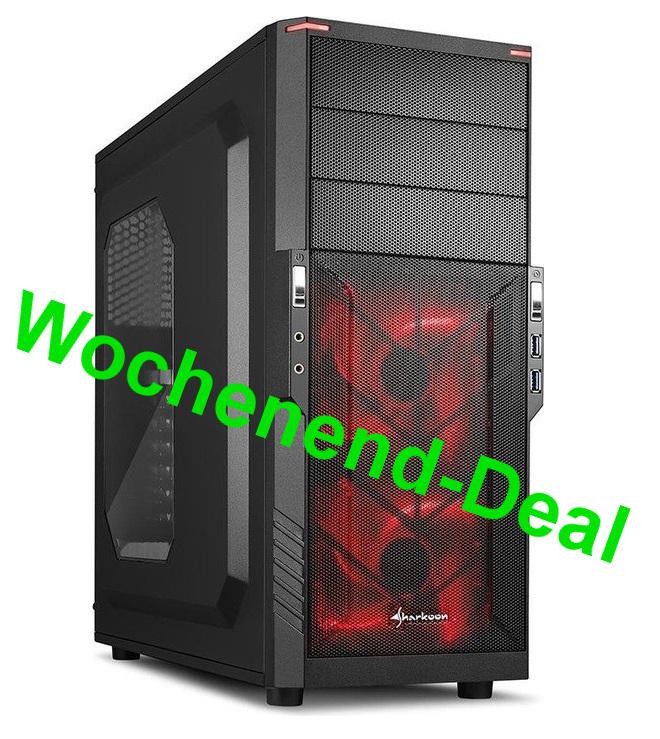 Gaming PC, Ryzen 1500X, GTX 1060 (6GB), 240 GB SSD, 1TB HDD, 8GB RAM, Corsair NT (550Watt ) und MSI B350 Mainboard [technik-store-24]