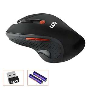 Wireless Maus, COO 2.4GHz 1600 DPI Gaming Maus