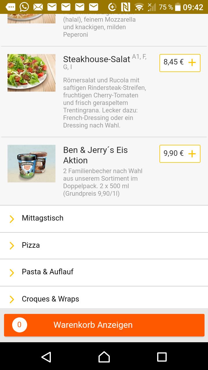 [Evtl. nur Lokal Hamburg] 2x Ben & Jerry's Eiscreme 500ml für 9,90 inkl. Lieferung