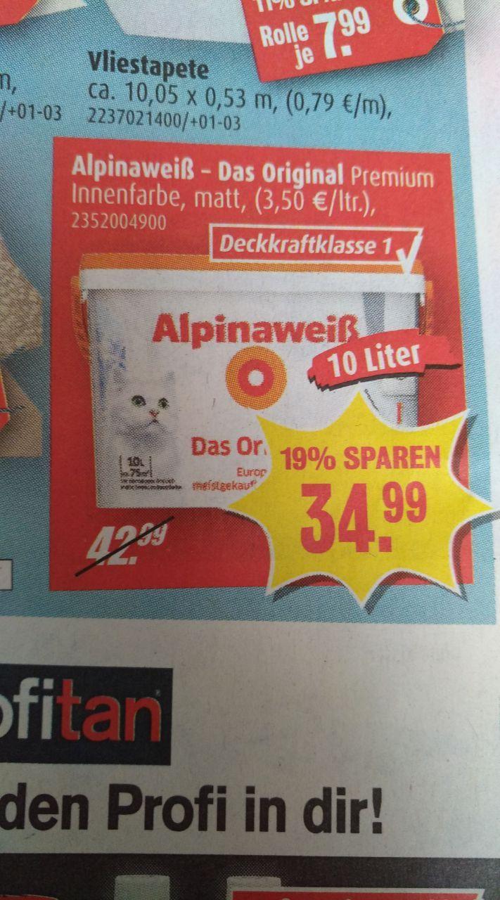 Alpinaweiß Original mit Katze bei Roller, noch günstiger bei Hornbach!