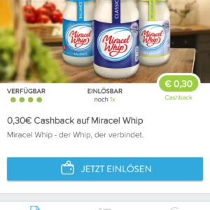 0,30€ Cashback auf Miracel Whip über die Marktguru App