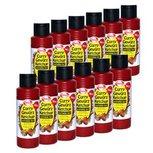 12x Curry Gewürz Ketchup (300ml) extreme hot [MHD 30.06.2018]