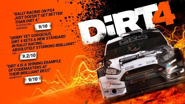 Dirt 4 für 16,49€, Dirt Rallye für 10,99€ (aufgrund Dirt Franchise auf Steam)