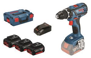 Bosch Professional GSR 18V-28 3x 3,0 Ah + L-Boxx