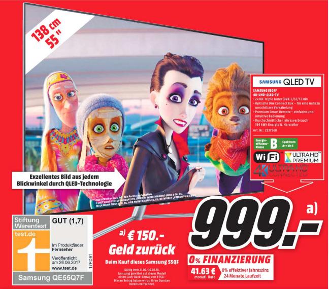 [MM-Bischofsheim] Samsung 55Q7F 4K-UHD-QLED-TV