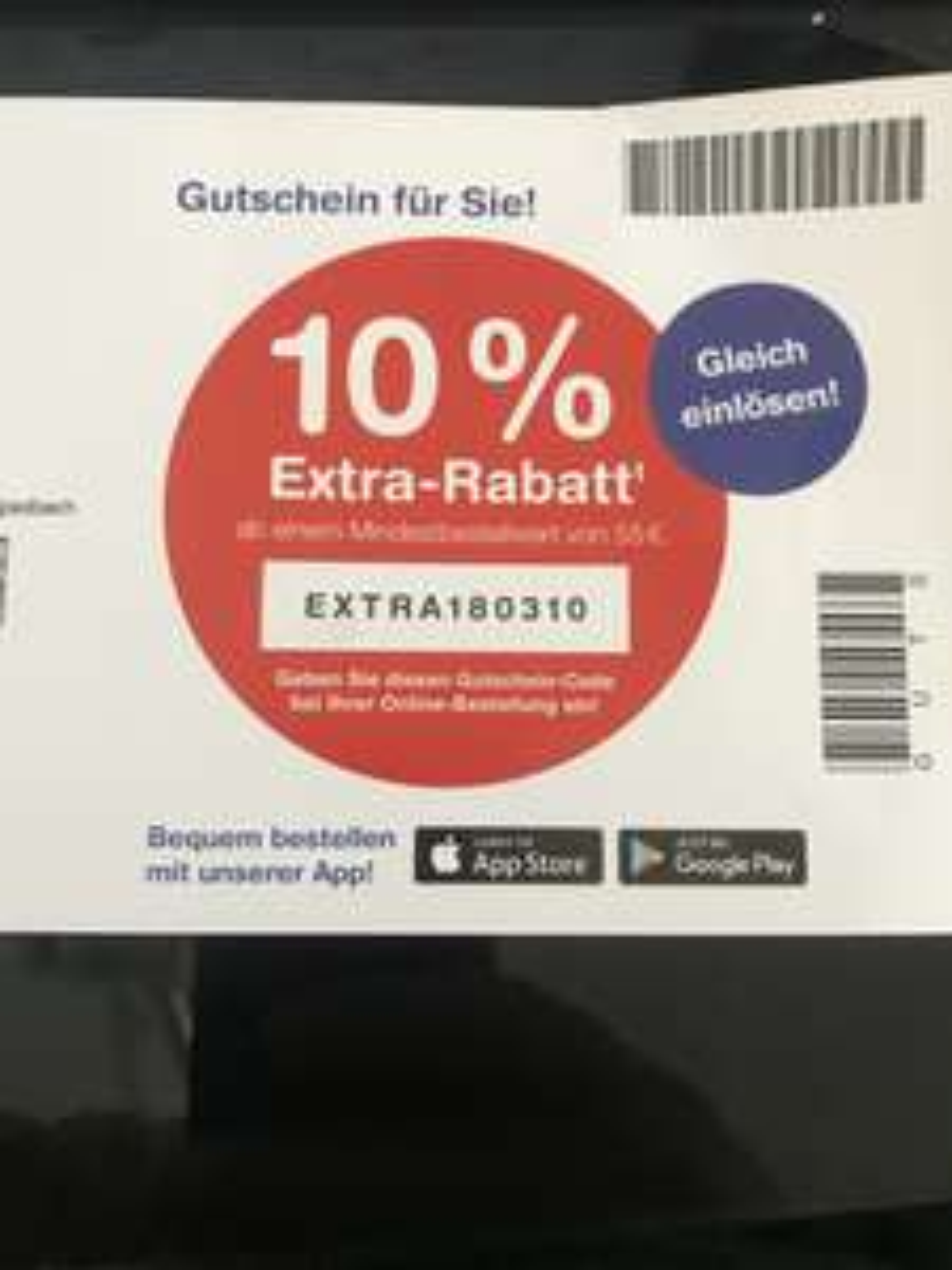 ( Shop Apotheke ) 10% Rabatt ab 55€ MBW  Bestandskunden