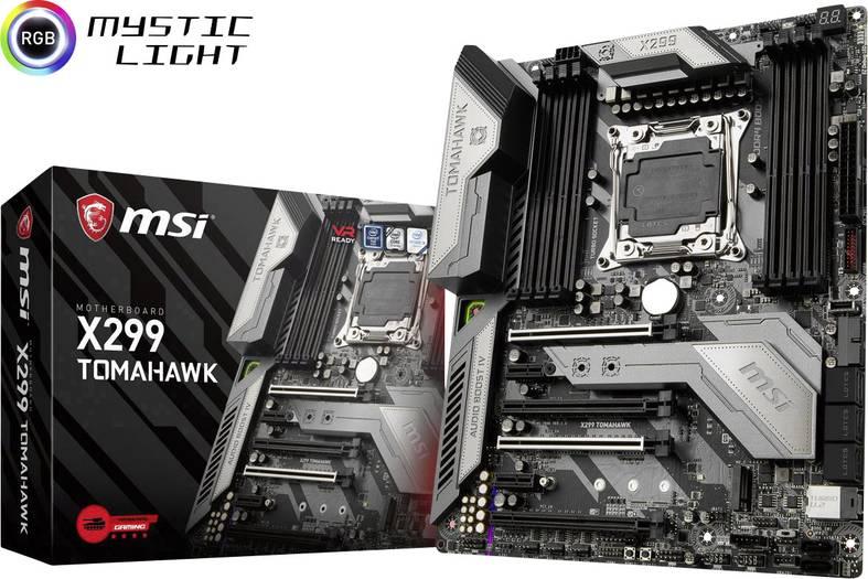 MSI Mainboard X299 Tomahawk Sockel Intel 2066 Formfaktor ATX Mainboard-Chipsatz Intel X299 [Voelkner]