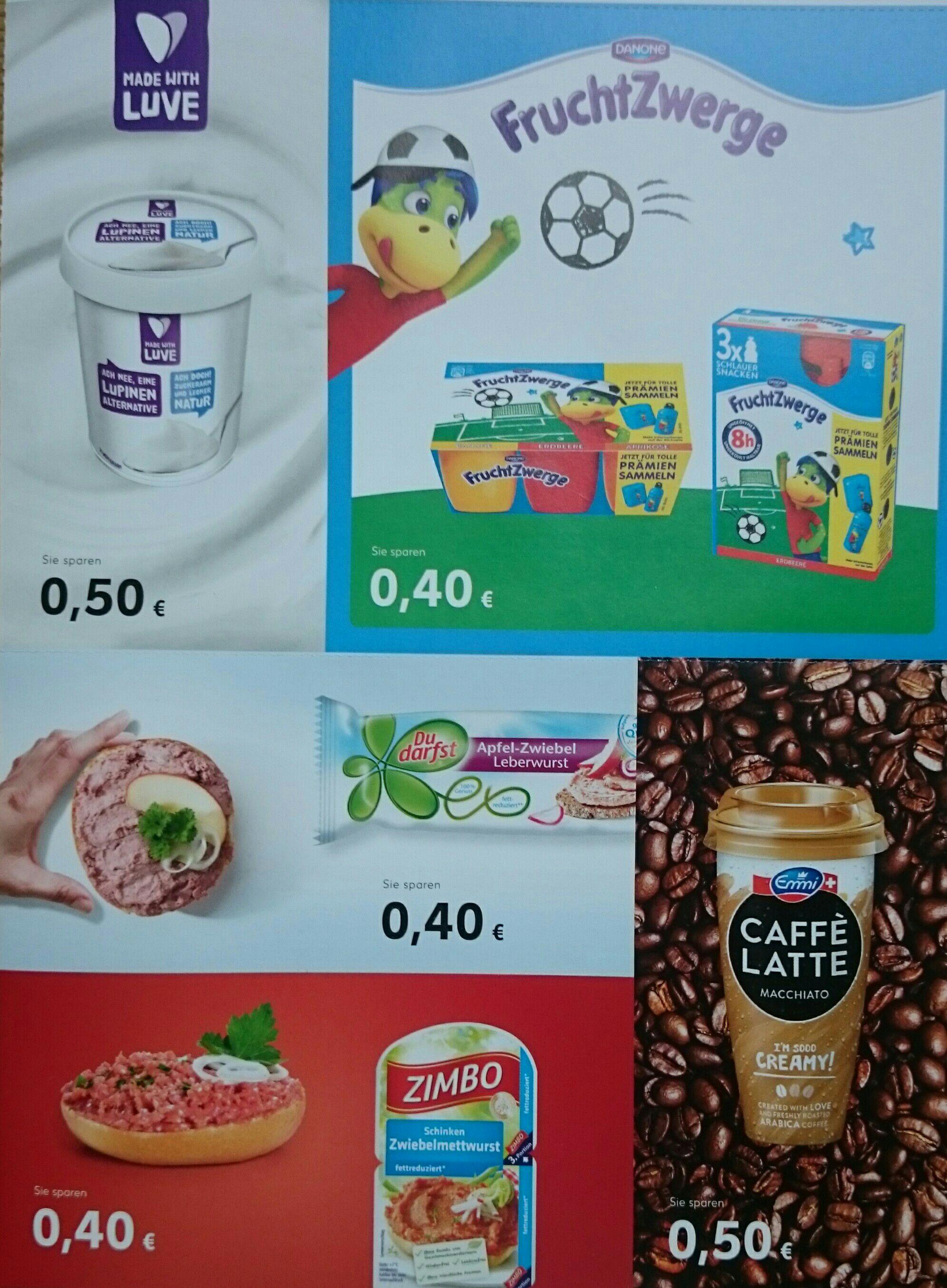 [Kaufland] Coupon - Fruchtzwerge - Made with Luve - Emmi Caffè Latte - Du Darfst Leberwurst - Zimbo Zwiebelmett