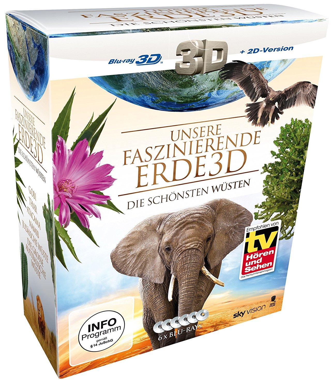 Unsere faszinierende Erde 3D - Die schönsten Wüsten Komplettbox Limited Edition (3D Blu-ray + 2D Version) für 6,99€ (Saturn)