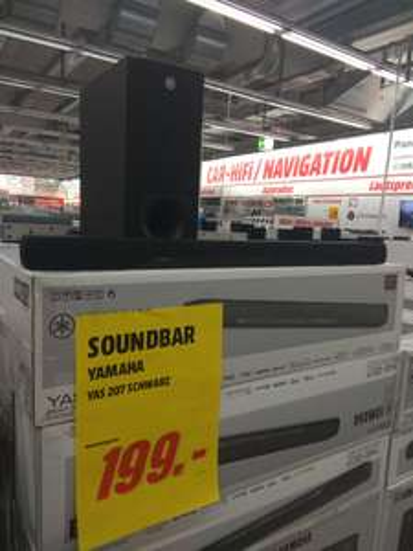 Media Markt Bochum RuhrparkJubiläum Yamaha Yas 207 Soundbar mit Funk Subwoofer