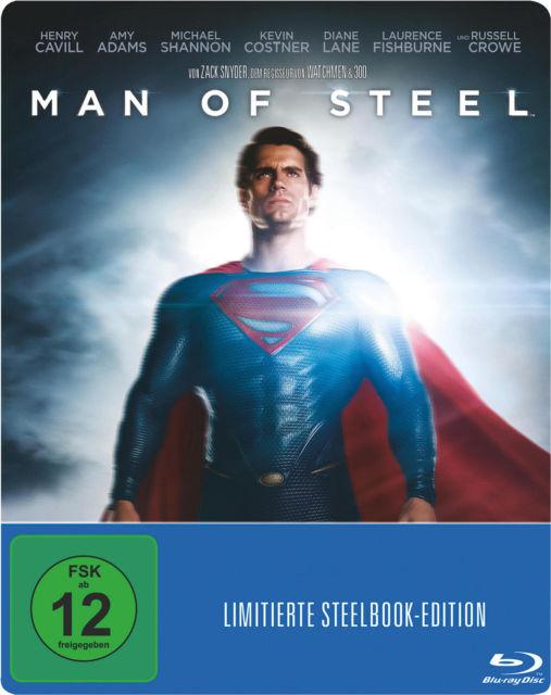 Man Of Steel Steelbook Edition (Blu-ray) für 6€ versandkostenfrei (Media Markt)