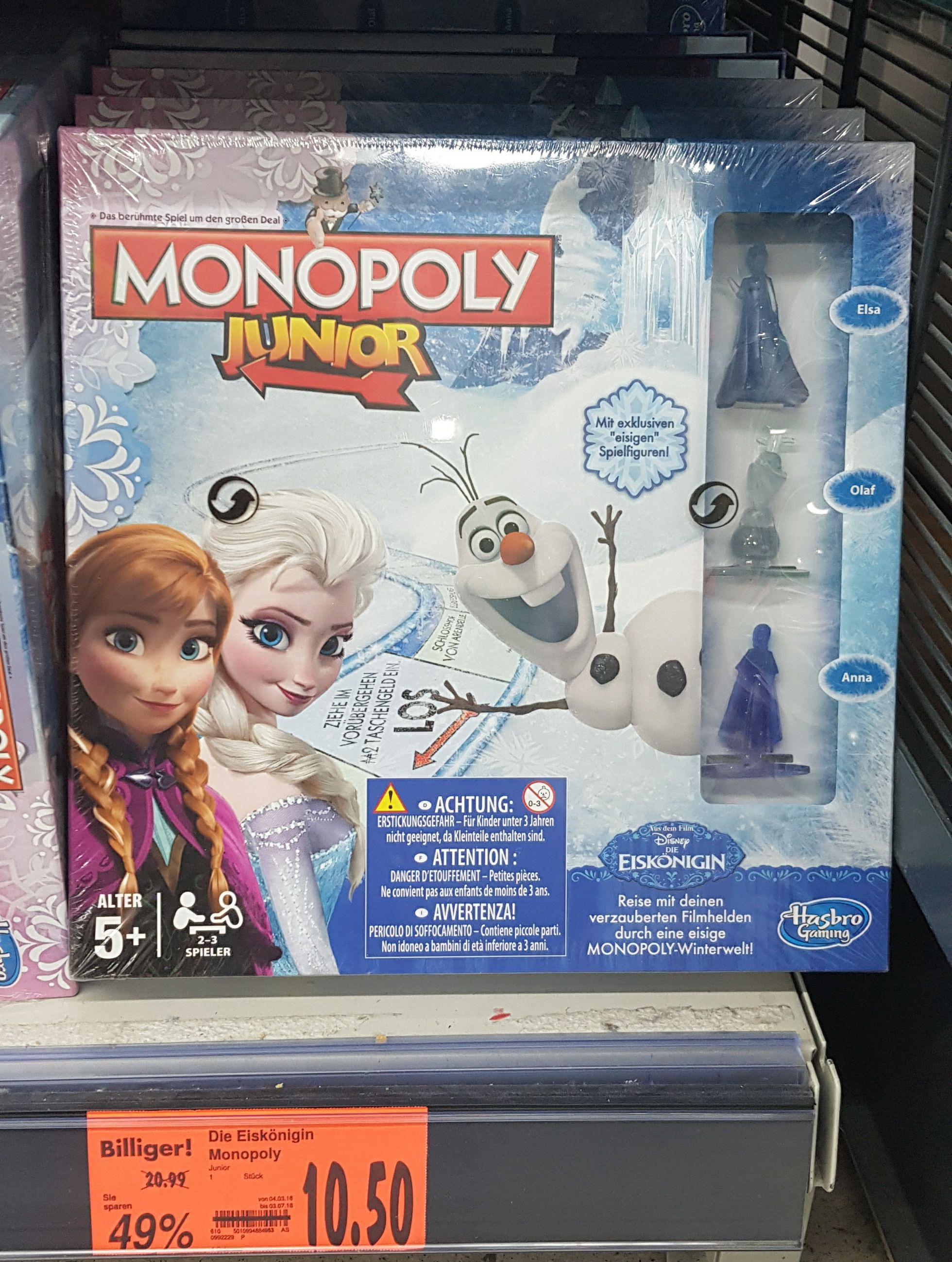 Monopoly Disney Die Eiskönigin Lokal Aschaffenburg Kaufland