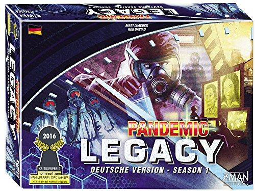 ZMan 691170 Pandemic Pandemie Legacy Brettspiel blau Season 1 deutsch Gesellschaftsspiel