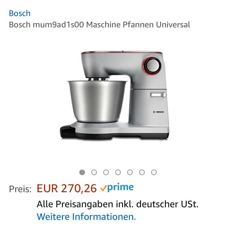 Bosch Küchenmaschine Optimum mum9ad1s00 - mydealz.de