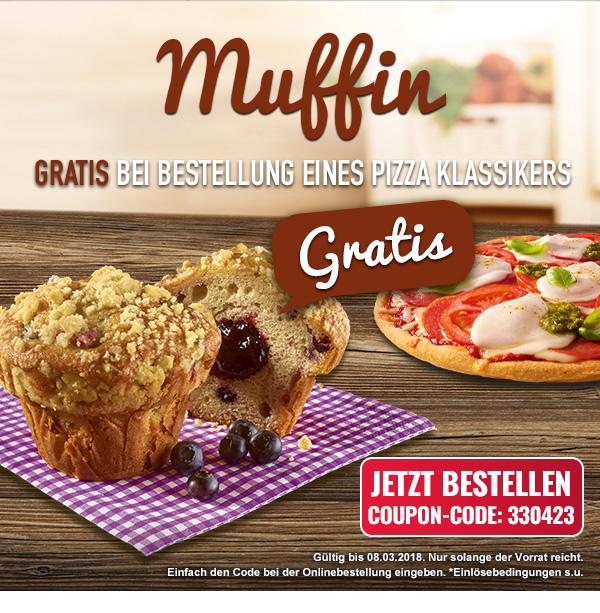 Neue Coupons & Mittagsangebote | Muffin gratis bei Bestellung eines Pizza Klassikers bei [Dominos Pizza]
