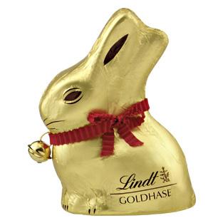 REAL Lindt 50 Gramm Goldhase bis 10.03 passend zu Ostern