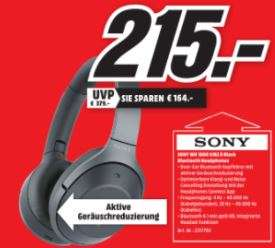 [Lokal MediaMarkt Ulm] Sony WH-1000XM2 schwarz / Versand zzgl. 3,99 VSK gegen Vorkasse möglich