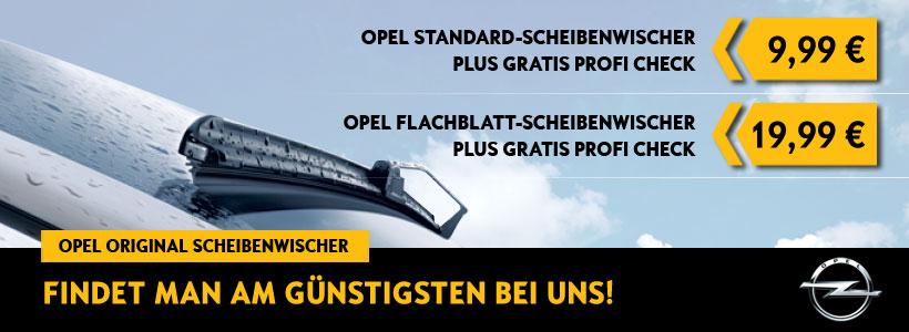 Ab 12. März 2018 Gratis-Profi-Check plus Opel Original Scheibenwischer zum Aktionspreis von nur 9,99 € bzw. 19,99€