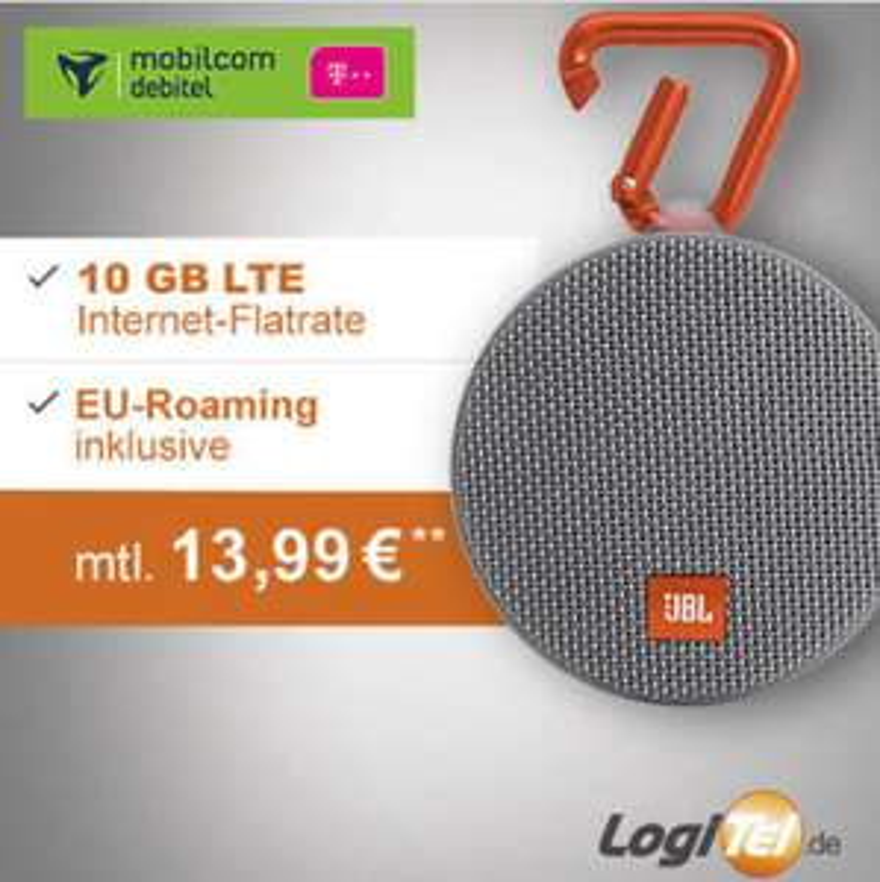 [Logitel] Datenflat 10GB LTE inkl. JBL Clip 2
