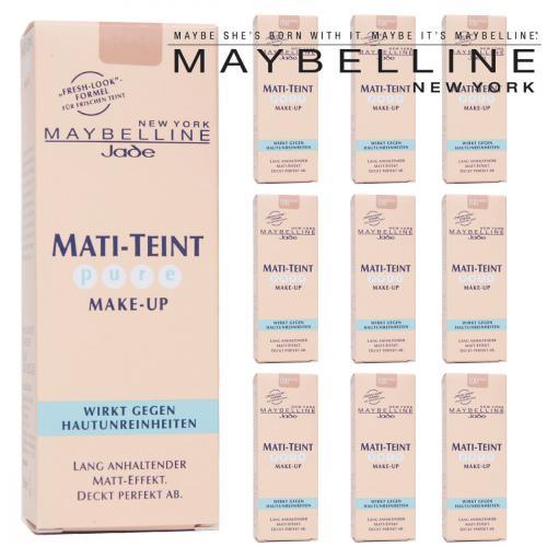 "10 x Maybelline Jade Mati-Teint Pure Make-Up NEW YORK - ""FRESH FORMEL"""