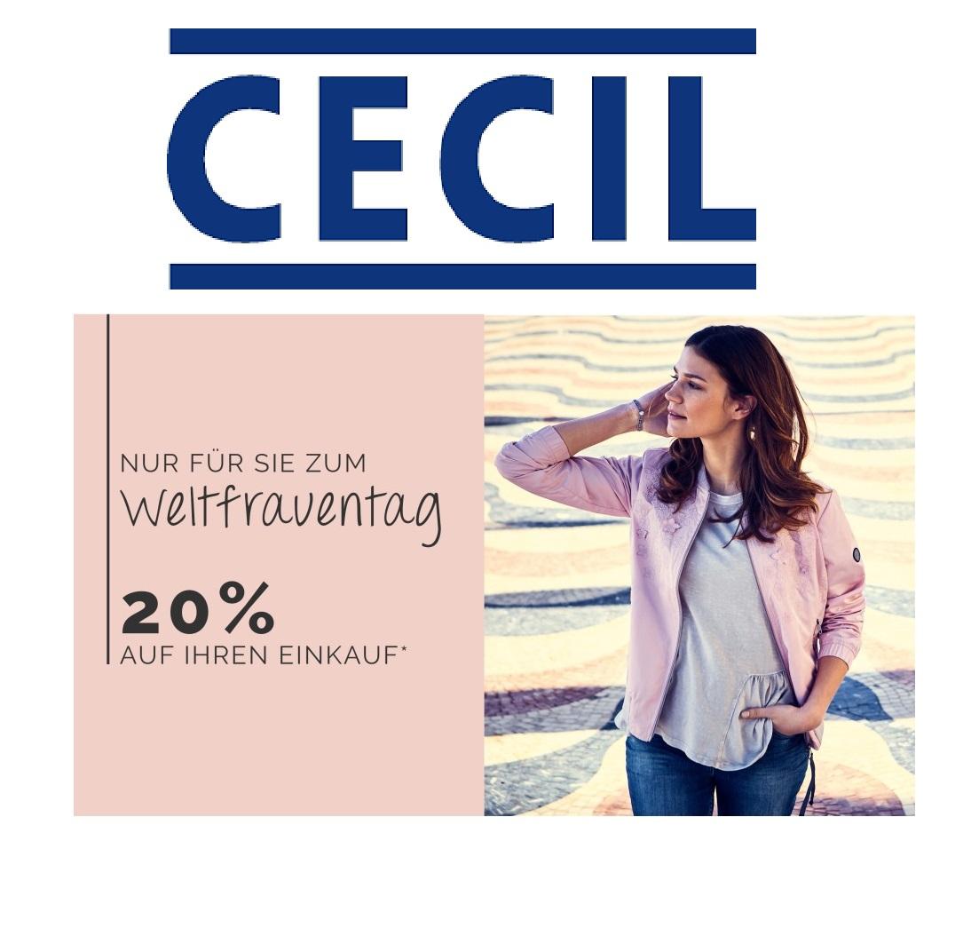 Bei CECIL Damenmode gibt es heute 20% Rabatt auf alles!