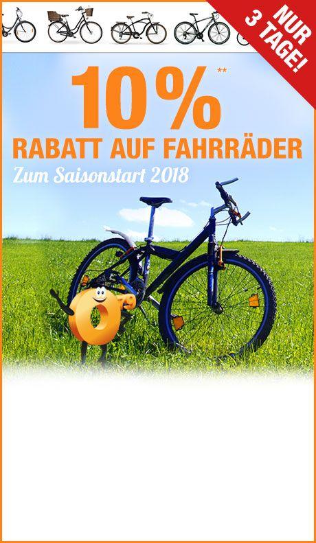 10% auf alle Fahrräder bei plus.de