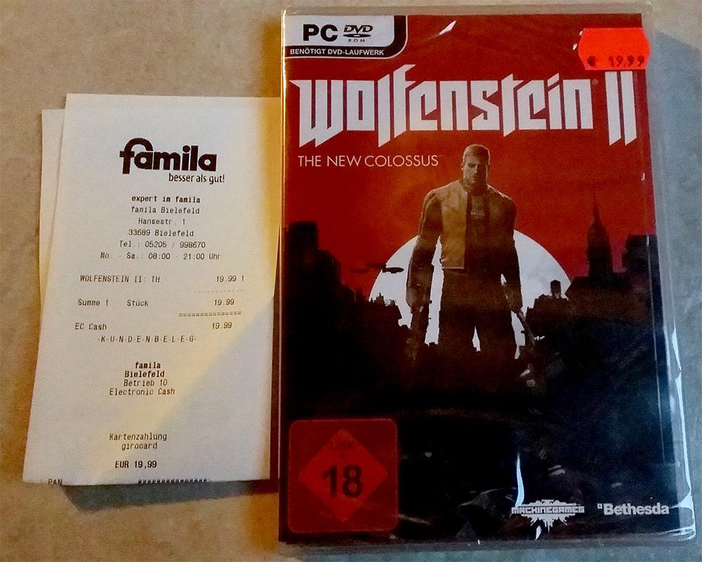 [Lokal Bielefeld Expert im Famila] Wolfenstein II: The New Colossus PC für 19.99 €
