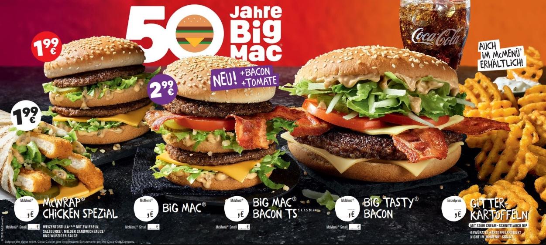 Bis 25. April: Big Mac für 1,99€ bei McDonalds