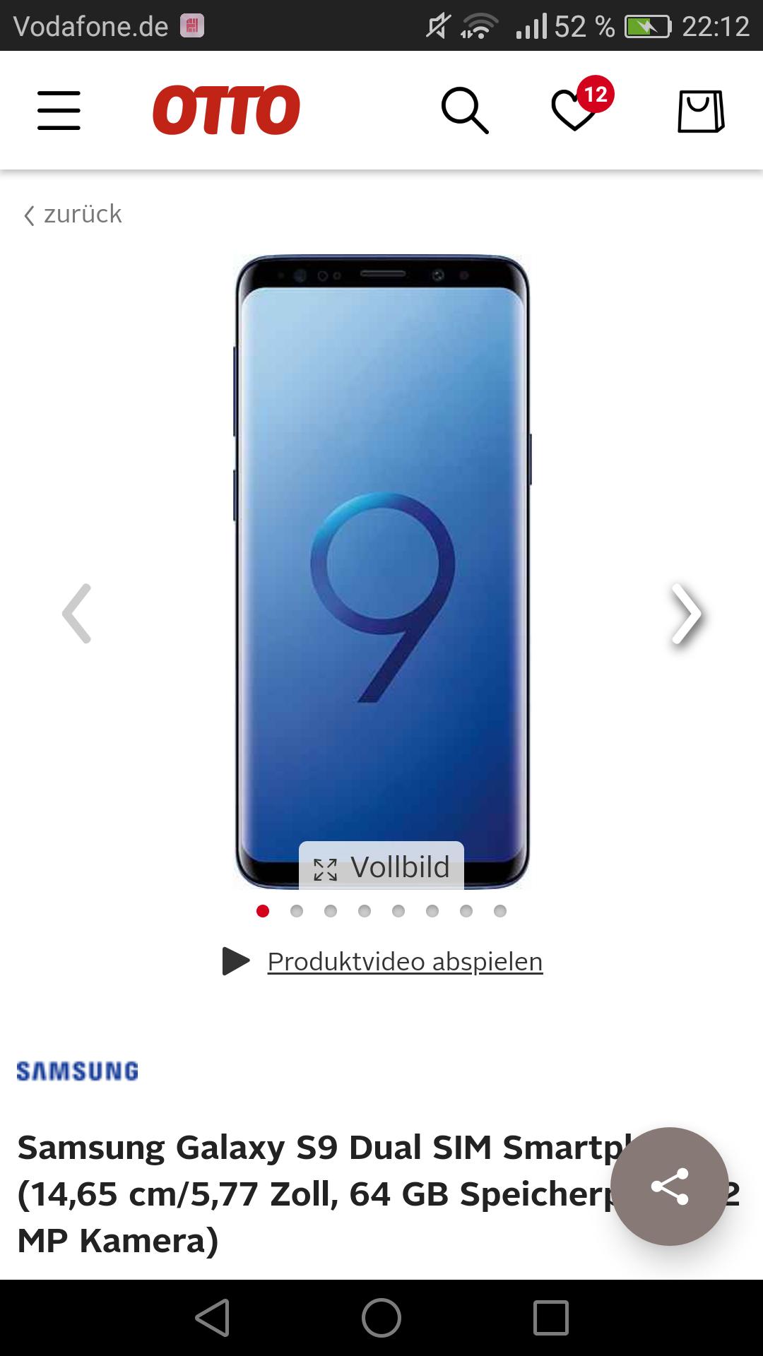 Samsung Galaxy S9/S9+. Nur für Kunden mit dem Otto Sparvorteil!