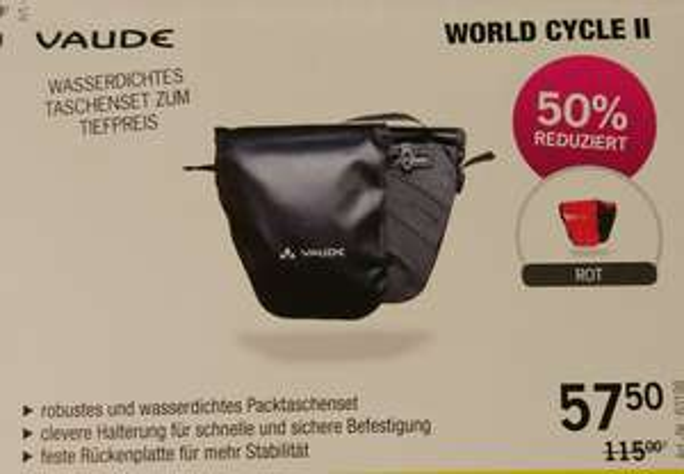 Vaude World Cycle II - Fahrradtaschen Set (Wasserdicht) [Mönchengladbach]