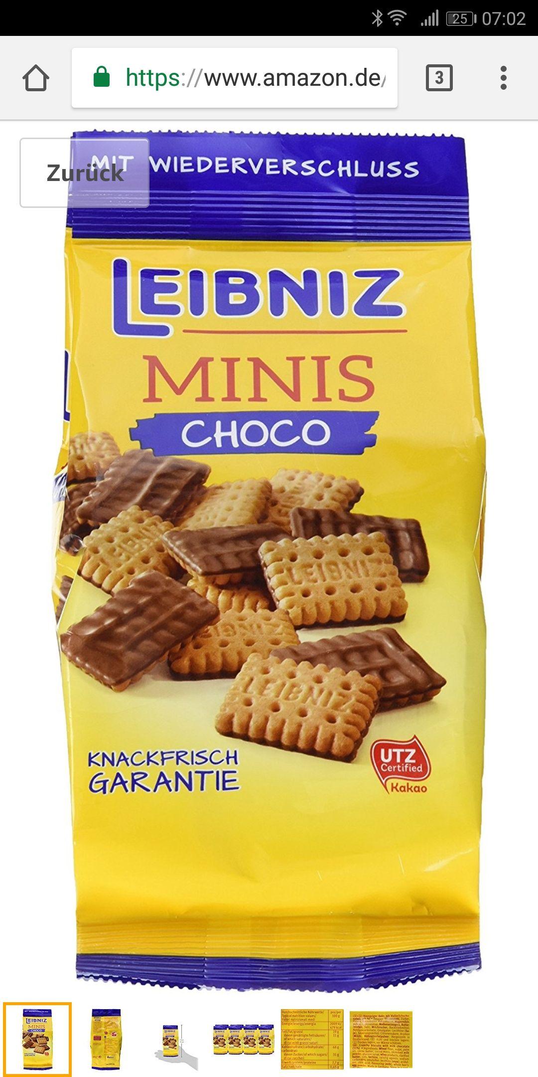 (Amazon Prime) Leibniz Choco Minis 8 x 125g