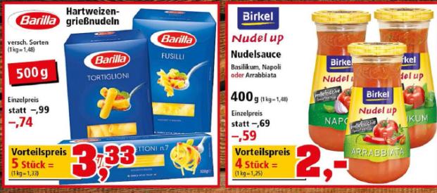 Thomas Philipps Barilla für 0,66€ ab 5 Packungen
