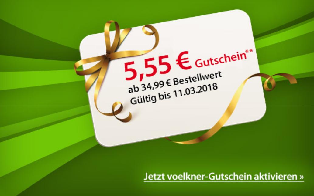 5,55 € Voelkner Gutschein ab 34,99 € MBW VERLÄNGERT