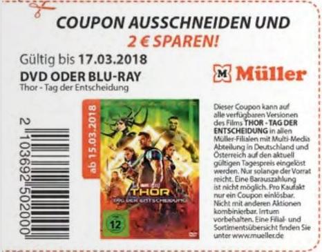Müller: Thor - Tag der Entscheidung Coupon für BLU-Ray oder DVD