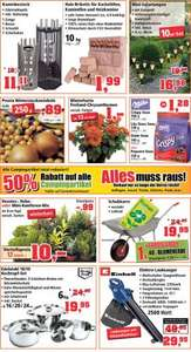 Schubkarre + 40 L Blumenerde  bei Thomas Phillips für 19,95 €