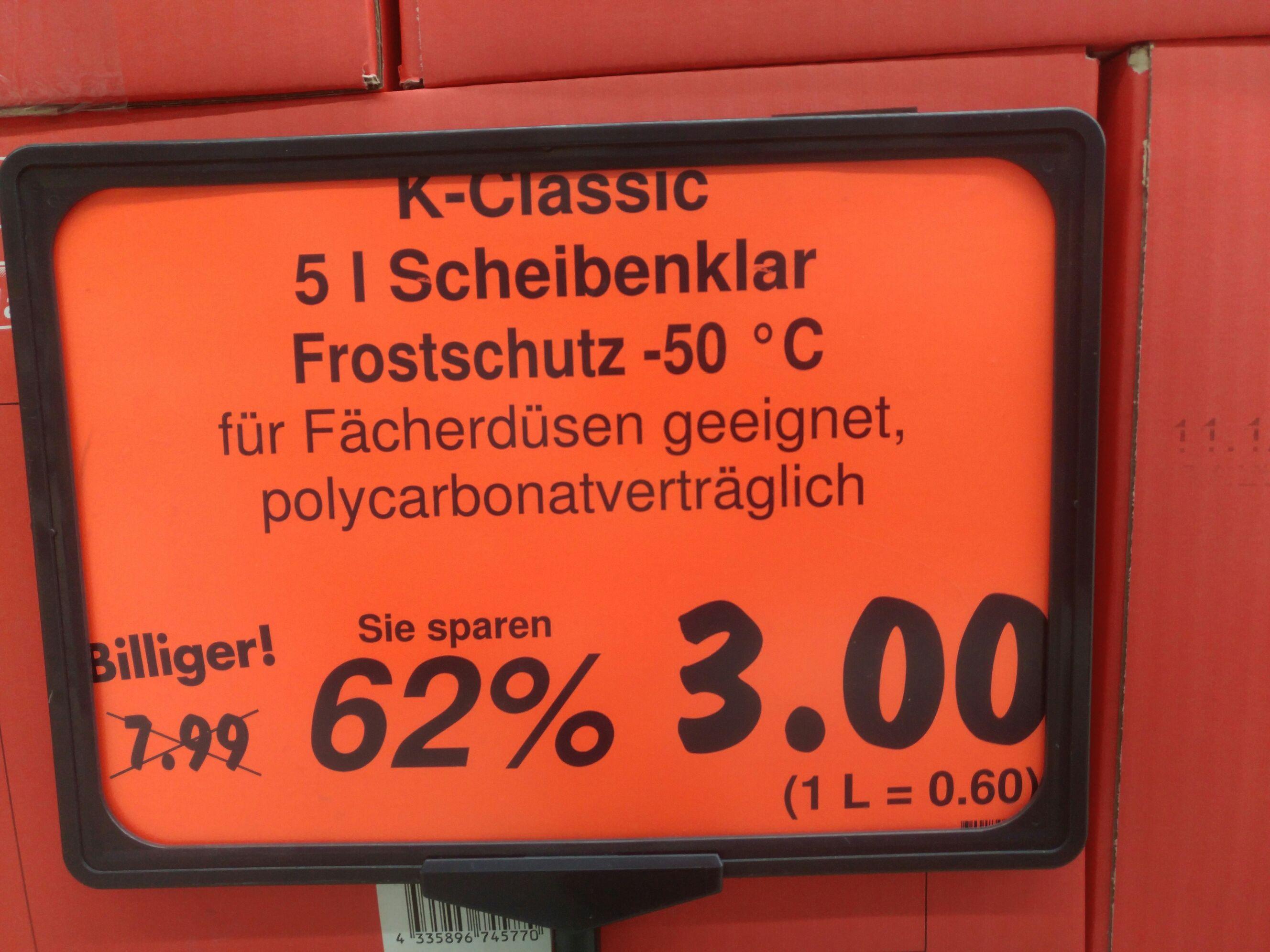 [Kaufland lokal Königsbrunn] Diverse Frostschutzmittel um bis zu 62% reduziert.