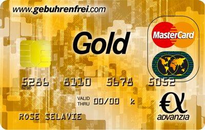 MasterCard Gold 100% gebührenfrei + 25€ Startguthaben