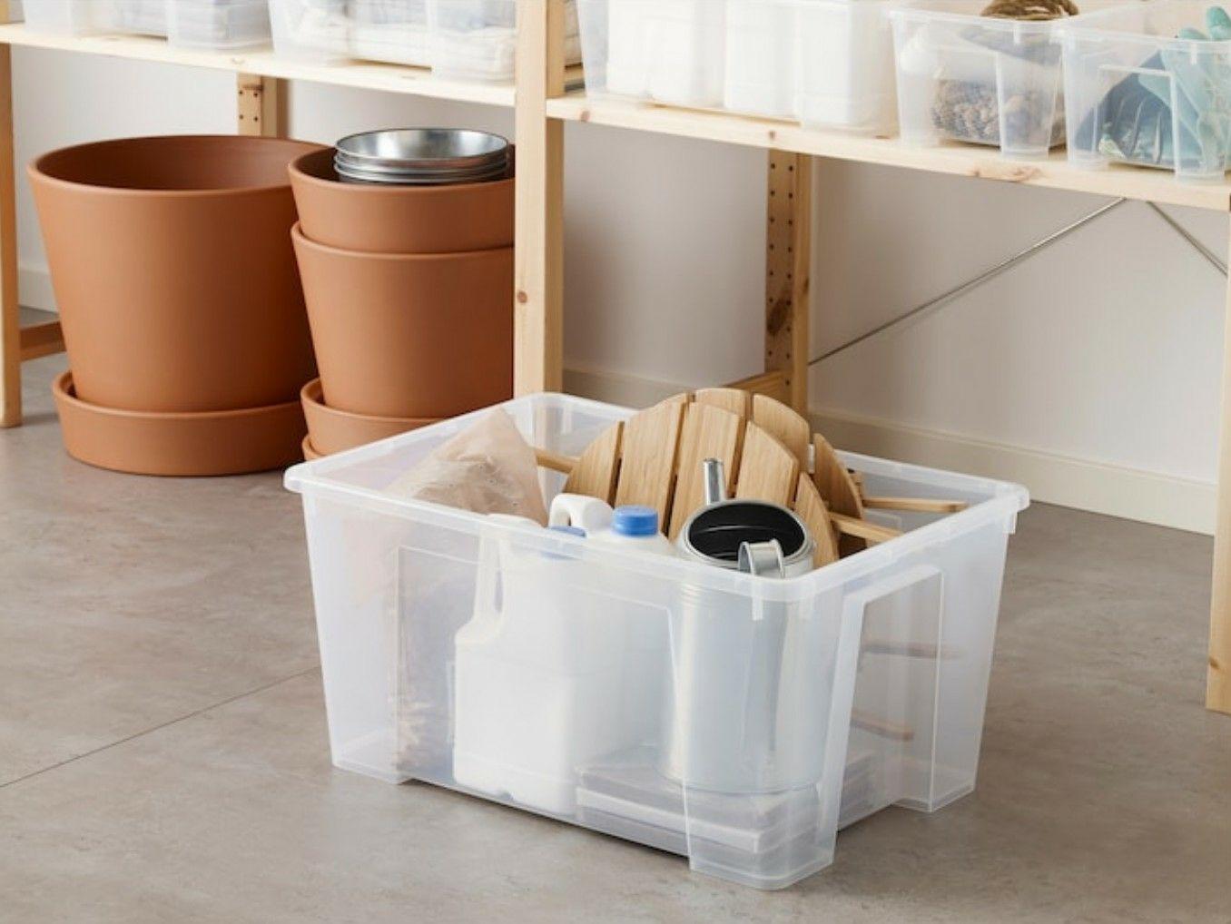 "[Lokal] IKEA Samla Box, transparent, 56x39x28 cm/45 l ""Wasserschaden"""